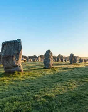 Standing stones from Ménec to Carnac